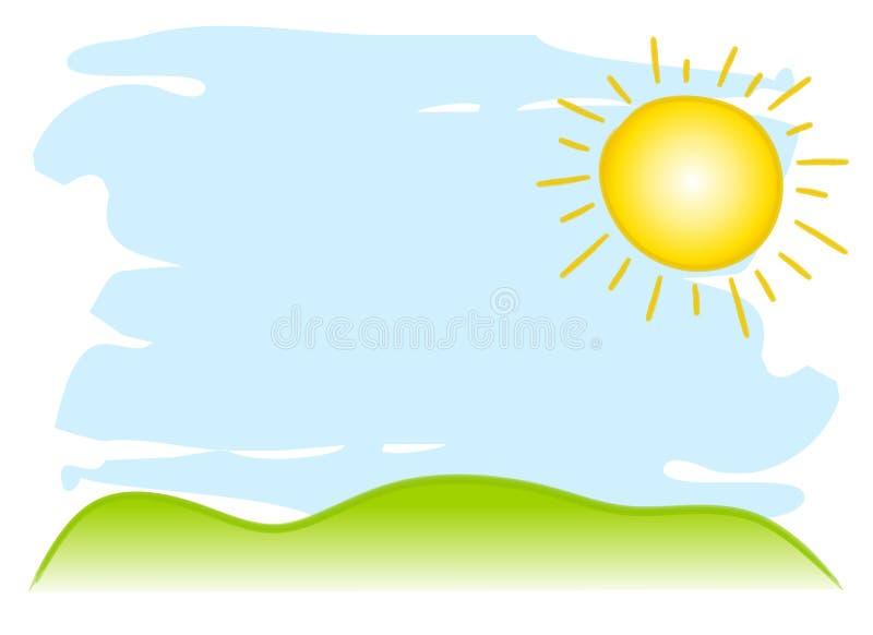 De zonnige Achtergrond van de Hemel stock illustratie