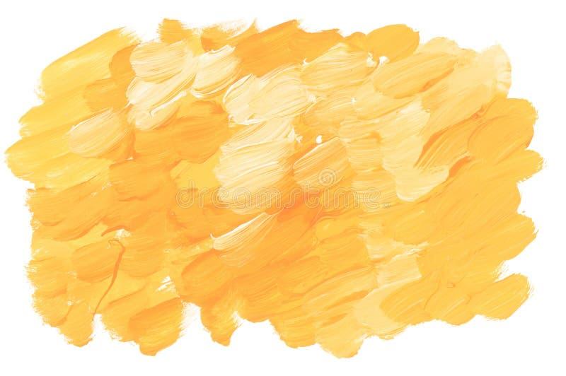 De zonnige gele acrylslag van de verfborstel royalty-vrije illustratie
