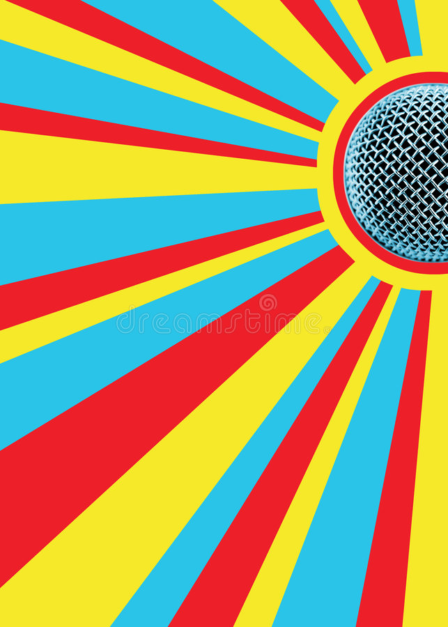 De zonnige Mic Achtergrond van de Disco vector illustratie