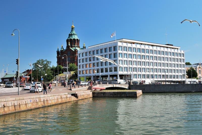 De zonnige zomer in Helsinki royalty-vrije stock afbeelding