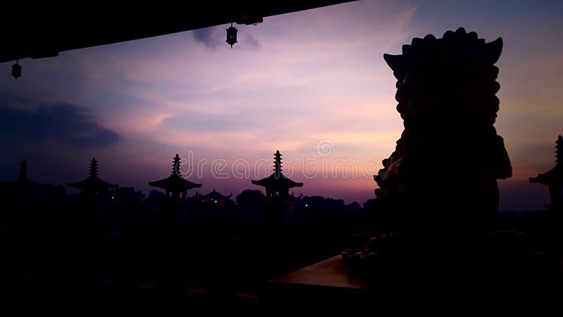 De zonsondergang stock fotografie