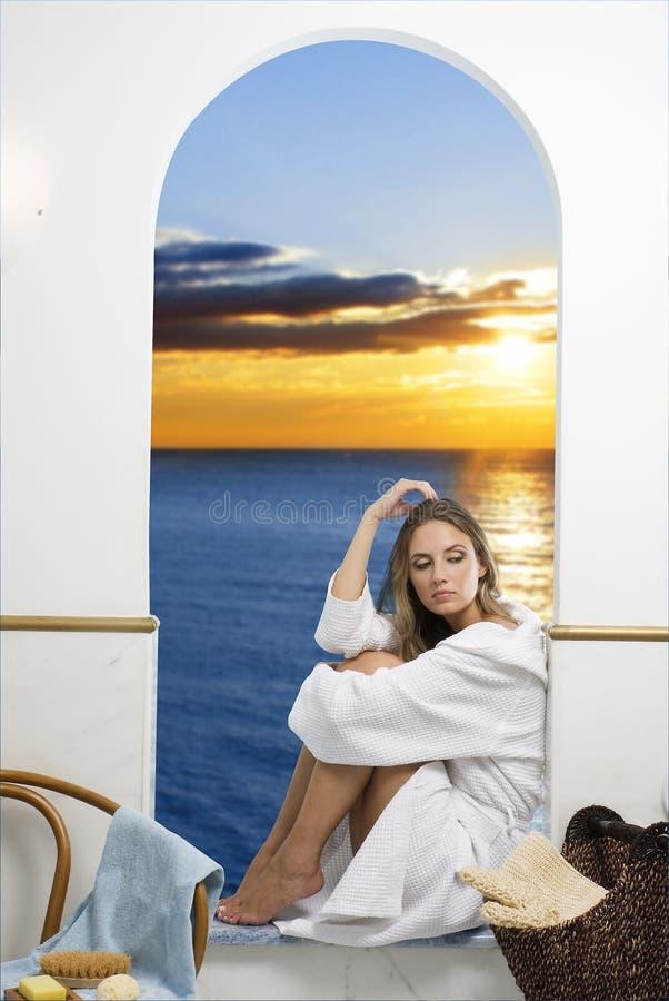 De zonsondergang royalty-vrije stock afbeelding