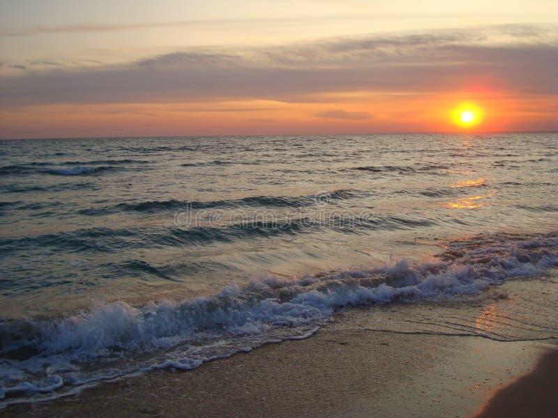 De zonsondergang is een soort een resultaat van de dag stock foto's