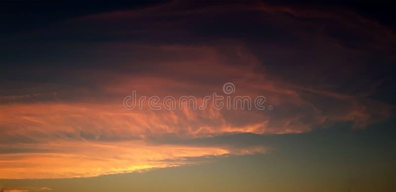 De zonsondergang in Marrakech royalty-vrije stock fotografie
