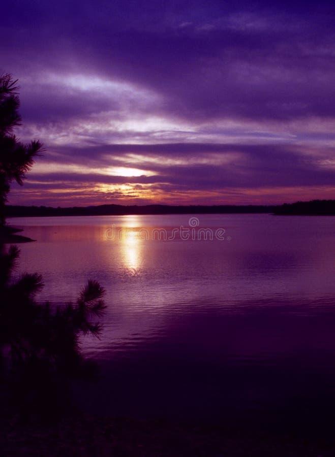 De Zonsondergang van Arkansas royalty-vrije stock afbeeldingen