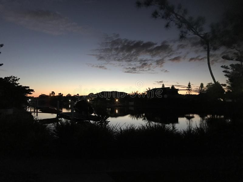 De Zonsondergang van Australië stock afbeelding
