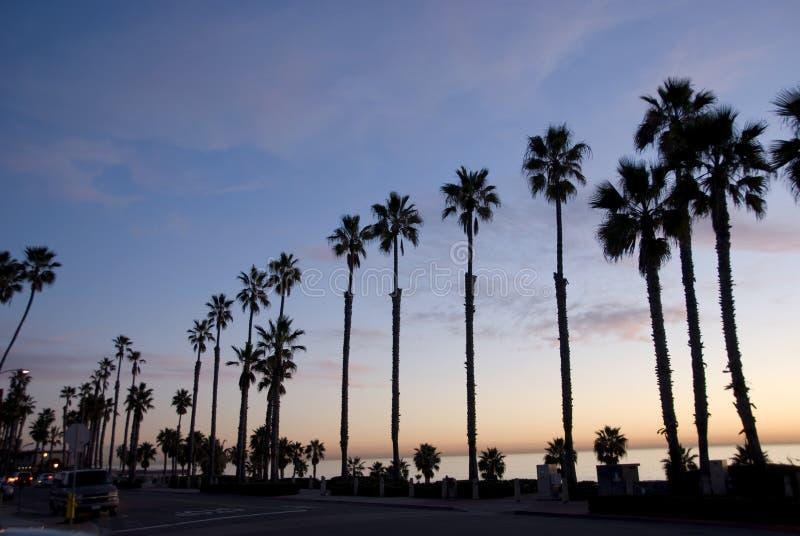 De zonsondergang van Californië stock fotografie