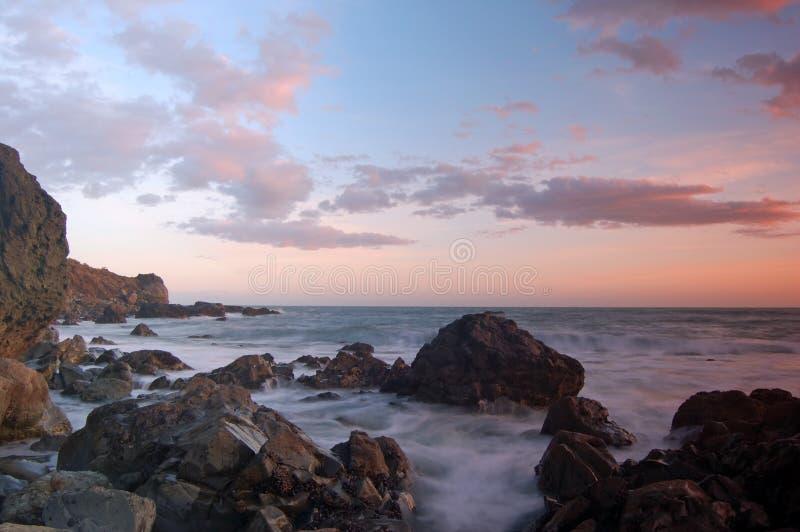 De Zonsondergang van Californië royalty-vrije stock foto's