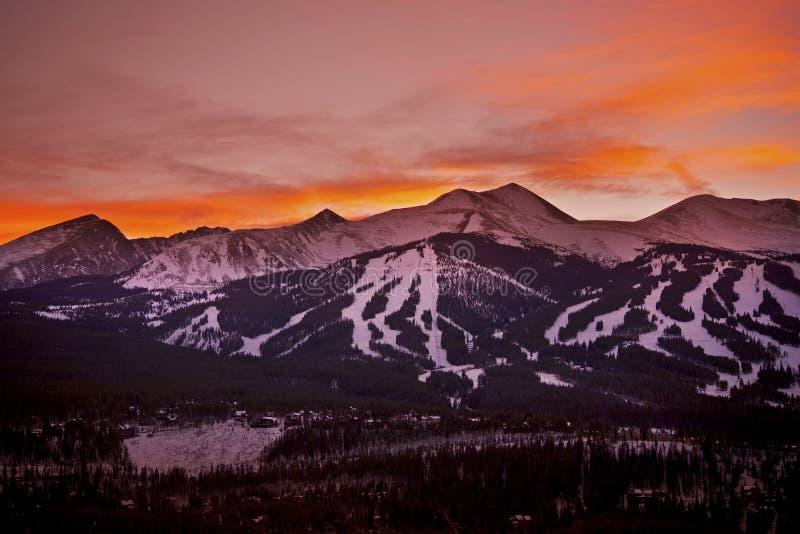 De Zonsondergang van Colorado stock afbeeldingen