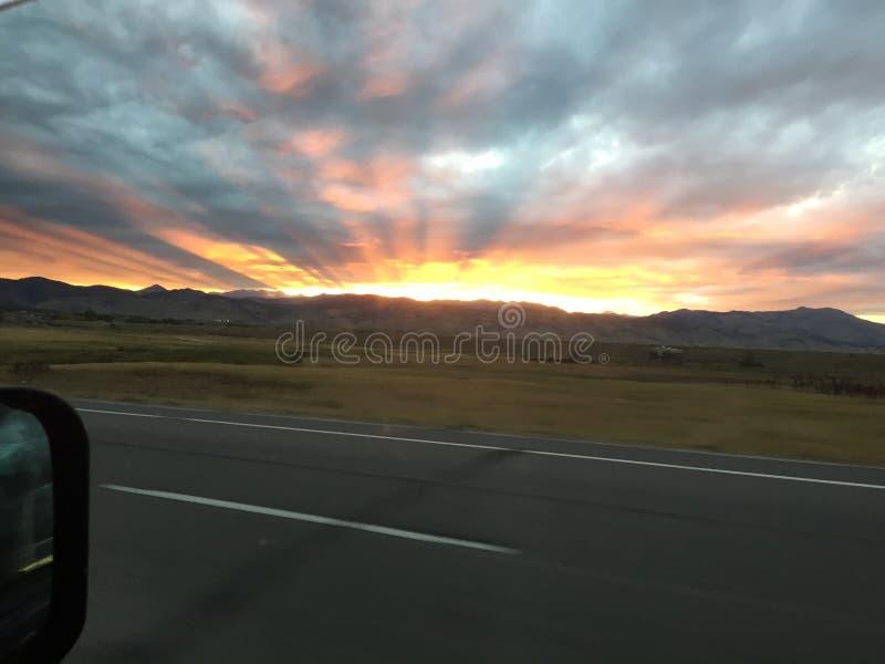De Zonsondergang van Colorado royalty-vrije stock foto