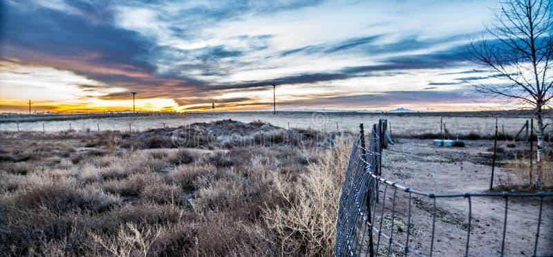 De Zonsondergang van Colorado royalty-vrije stock foto's