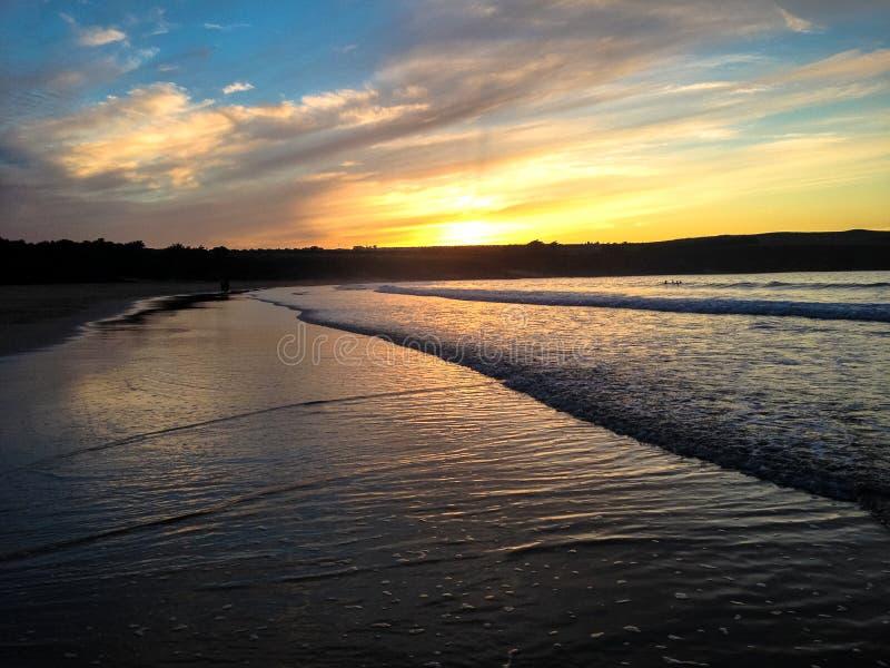 De Zonsondergang van Cornwall stock foto's