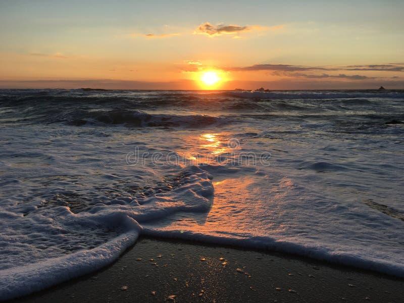 De Zonsondergang van Cornwall stock foto