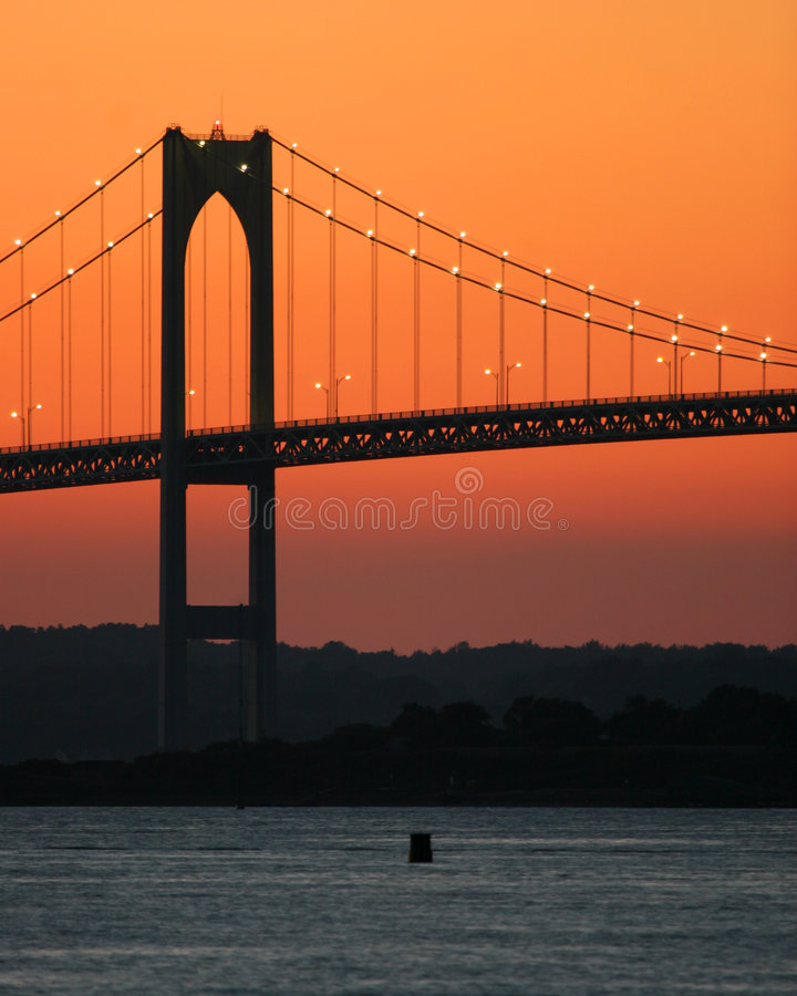De Zonsondergang van de brug royalty-vrije stock afbeeldingen