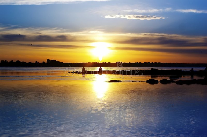 De zonsondergang van de herfst royalty-vrije stock fotografie