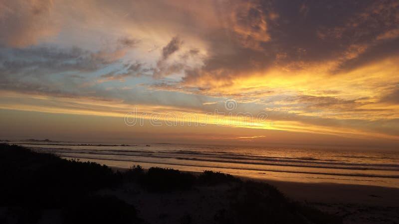 De zonsondergang van de kleurenplons stock fotografie