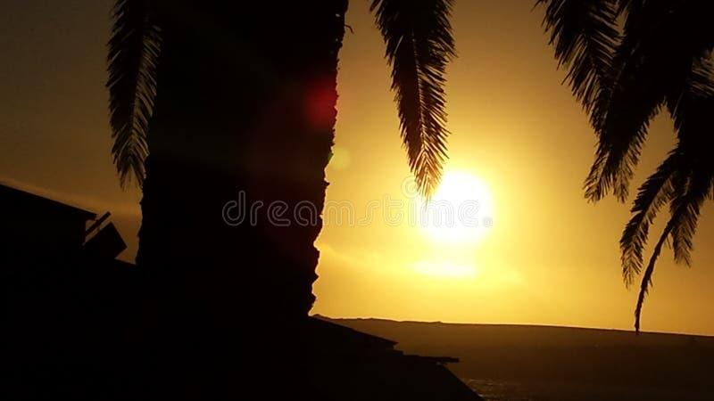 De zonsondergang van de kleurenplons stock foto