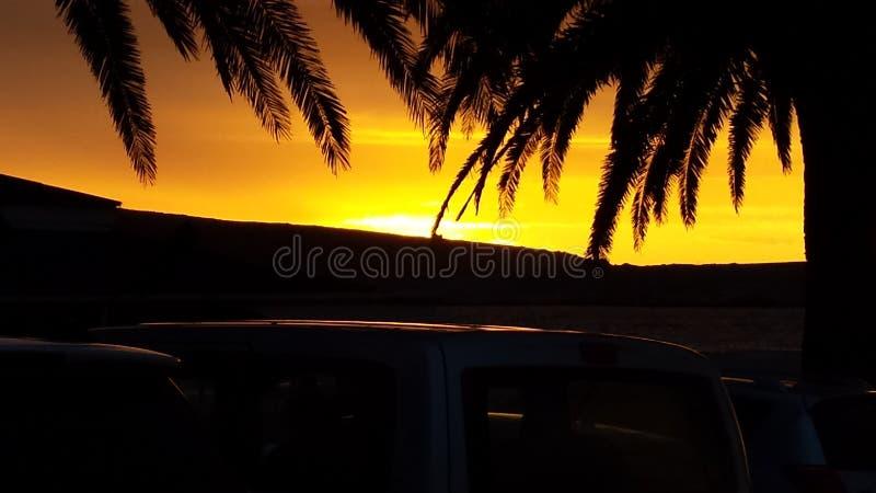 De zonsondergang van de kleurenplons royalty-vrije stock afbeelding
