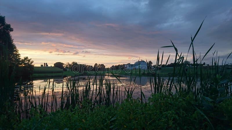 De zonsondergang van de provincie van Lancaster royalty-vrije stock fotografie