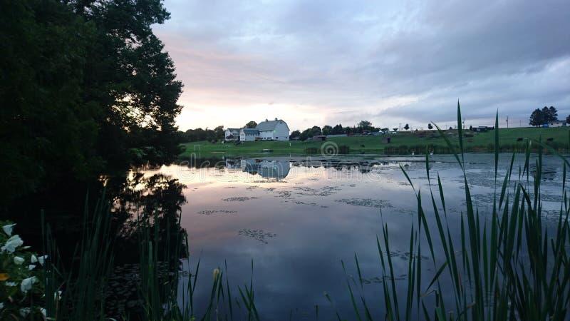 De zonsondergang van de provincie van Lancaster stock foto