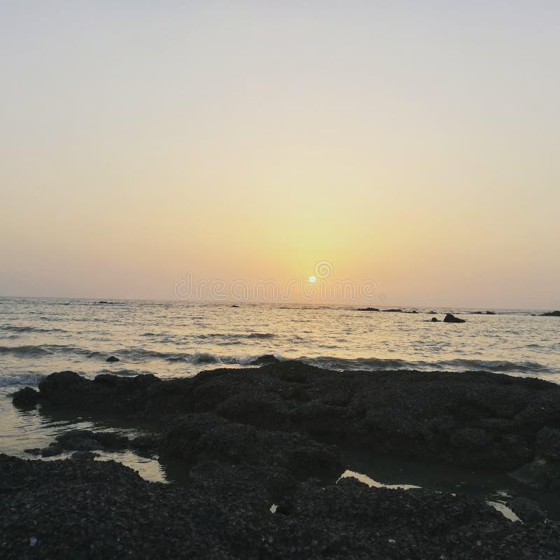 De Zonsondergang van de vakantiereis stock fotografie