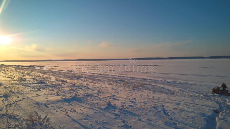De zonsondergang van de winter royalty-vrije stock foto's