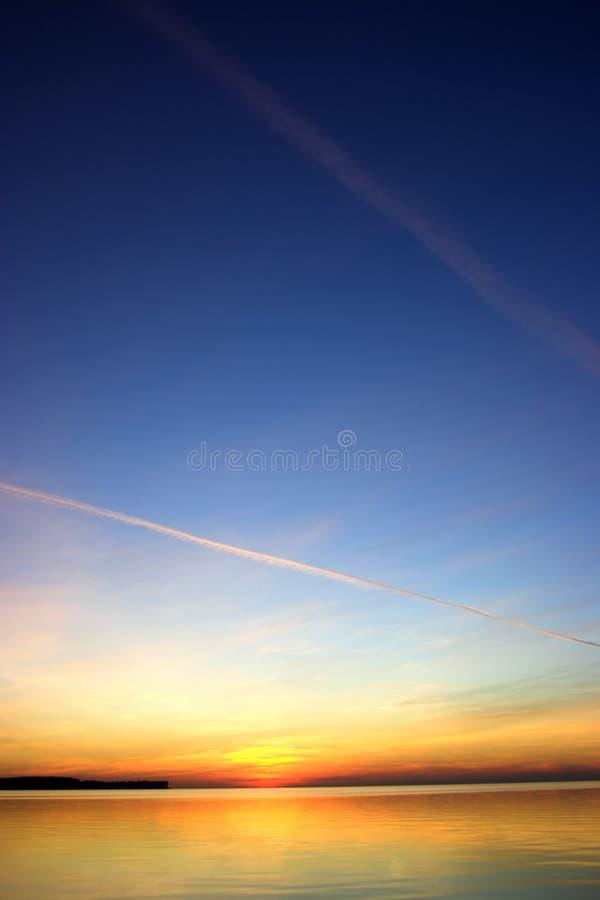 De zonsondergang van de zomer royalty-vrije stock afbeelding