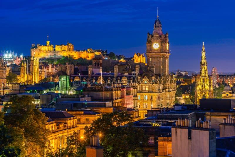 De zonsondergang van Edinburgh royalty-vrije stock afbeelding