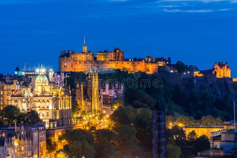 De zonsondergang van Edinburgh stock foto's