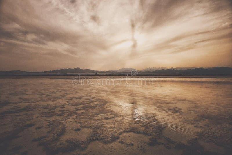 De Zonsondergang van Egypte RedSea stock foto