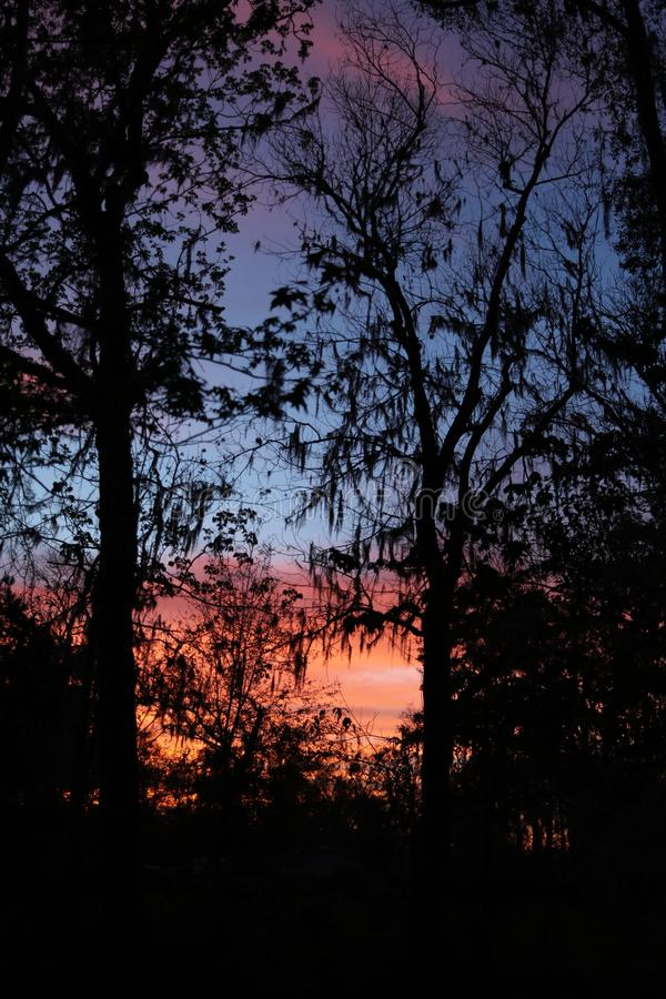 De zonsondergang van Florida stock afbeelding