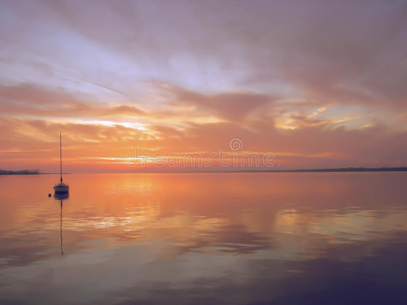 De zonsondergang van Florida stock foto