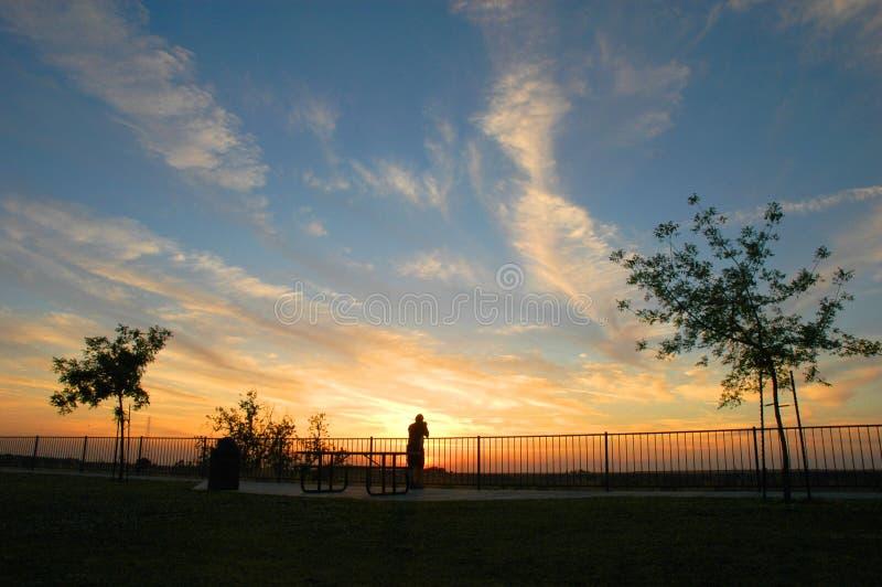 De Zonsondergang van Fresno royalty-vrije stock foto