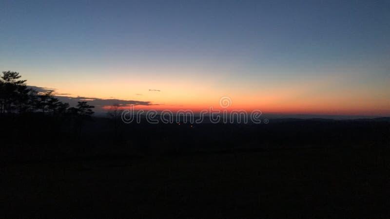 De zonsondergang van Georgië royalty-vrije stock foto's