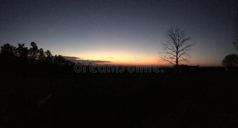 De zonsondergang van Georgië royalty-vrije stock fotografie