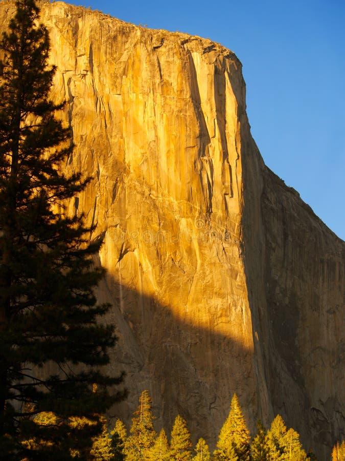 De zonsondergang van Gr Capitan stock afbeelding