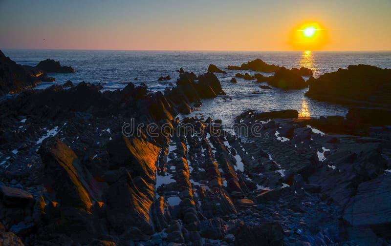 De zonsondergang van de Hartlandkade royalty-vrije stock foto's