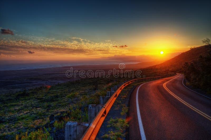De Zonsondergang van Hawaï royalty-vrije stock afbeeldingen