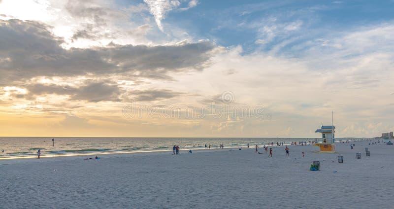 De zonsondergang van het Clearwaterstrand royalty-vrije stock foto