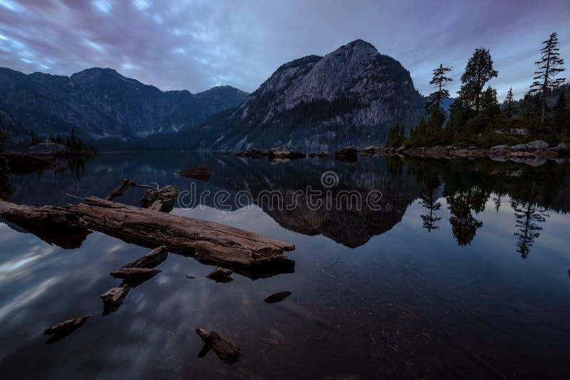 De Zonsondergang van het smientmeer stock fotografie
