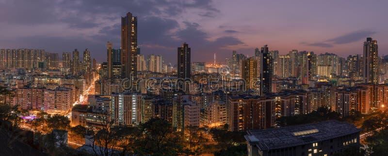 De Zonsondergang van Hongkong stock foto's
