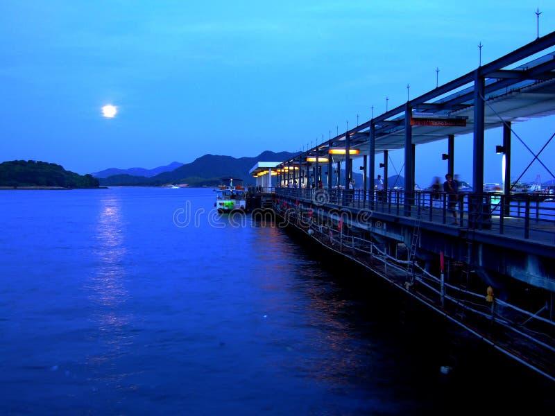 De zonsondergang van Hongkong Sai Kung stock fotografie