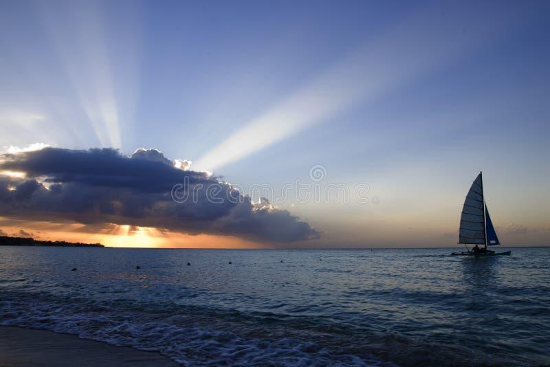De zonsondergang van Jamaïca royalty-vrije stock foto