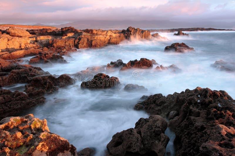 De zonsondergang van Kerry, Ierland royalty-vrije stock afbeelding