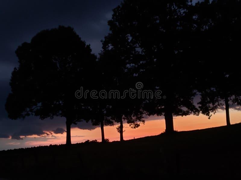 De zonsondergang van KY stock afbeelding