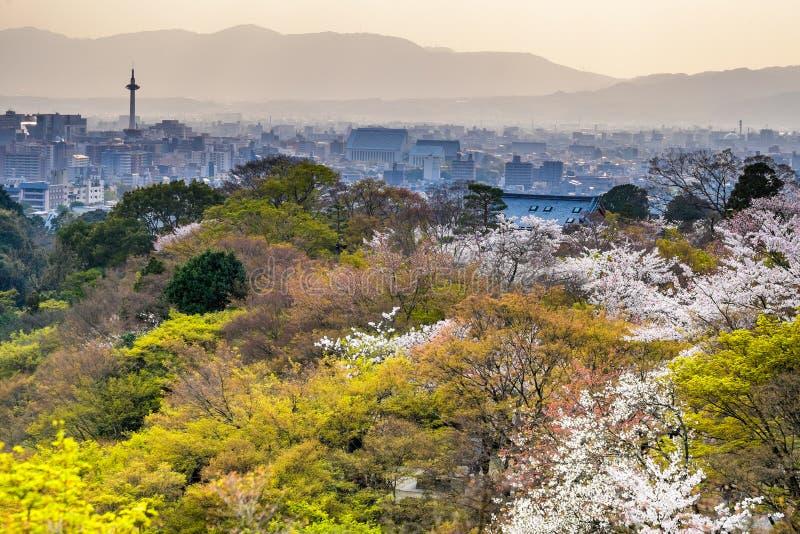 De zonsondergang van Kyoto royalty-vrije stock fotografie
