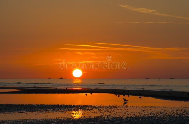 De zonsondergang van La Manch royalty-vrije stock fotografie