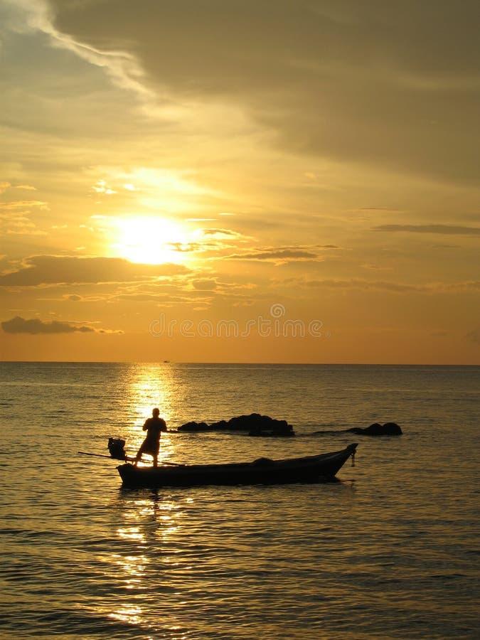 De Zonsondergang van Lanta van Ko stock foto's
