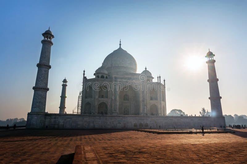 De Zonsondergang van Mahal India van Taj royalty-vrije stock fotografie