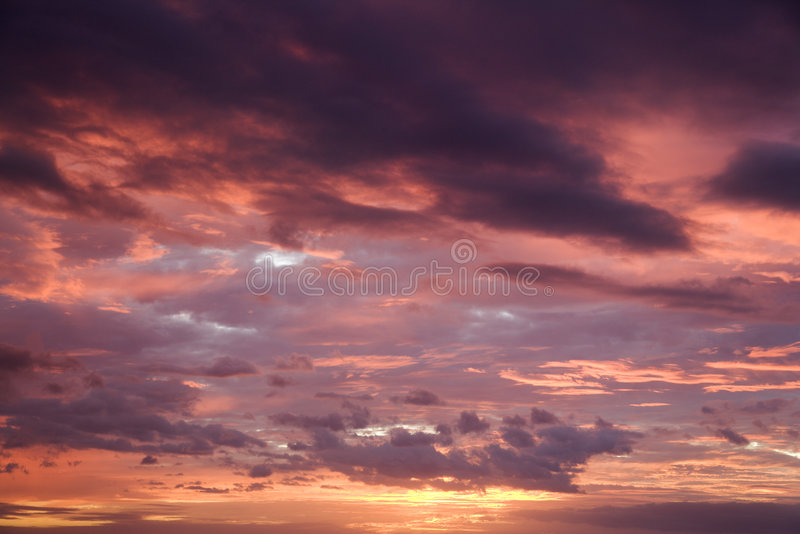 De zonsondergang van Maui. royalty-vrije stock fotografie